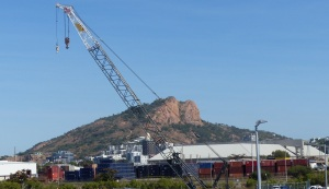 Another view of Castle Hill seen from the Port of Townsville.