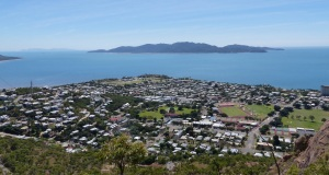 Townsville, Cleveland Bay and Magnetic Island seen from Castle Hill.