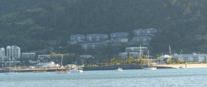 Port of Airlie Marina seen from Mandalay Point.
