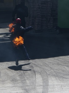 "This stunt man posed as a member of the audience ""selected at random"" to take part in the stunt show."