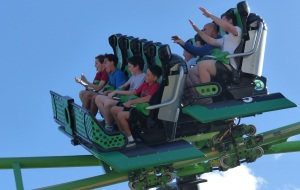 Chris on his 8th ride on the Green Lantern.