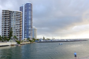 High rise apartments on the northern part of the Broadwater