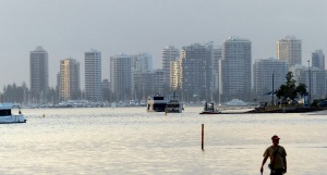 The Broadwater looking south to Surfers Paradise.