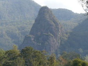Volcanic Plug in the Numinbah Valley.