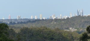 View of Southport on the Gold Coast from near Advancetown.