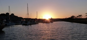 Sunset at Hope Harbour Marina.