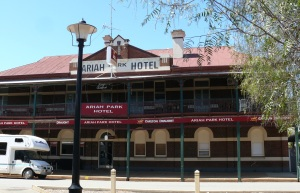 Ariah Park Hotel located at, of all places, Ariah Park in NSW.