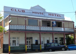 The Club House Hotel at Peak Hill. This is another town on my month long wander in October 2012.