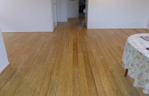 """Our new """"Bondi"""" Bamboo floor looking from front door."""