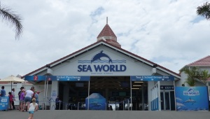 Entrance to Sea World on The Spit at the Gold Coast Broadwater.