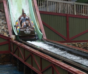 The Flum Ride where you would be lucky to escape with at least getting partially drenched.