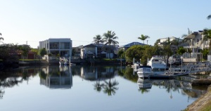 Properties on Biggera Creek/Canal at Lands End.