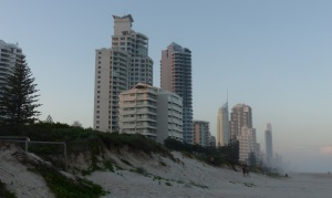 High Rise buildings at Surfers Paradise seen from Broadbeach.