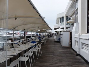 The long wharf precinct at Marina Mirage with upmarket restaurants.