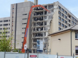 Gold Coast Hospital being demolished...