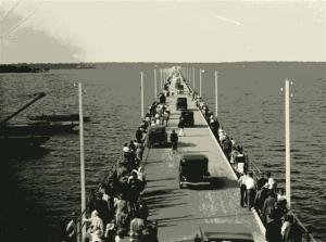 First day opening of the Hiornibrooik Highway and Bridge in 1935