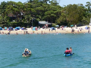 Bundeena Beach from the jetty.