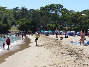 Bundeena Beach looking back to the Creek.