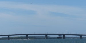 Captain Cook Bridge spanning the Georges River from Sans Souci to Taren Point.