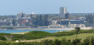 Cronulla Beach seen from the sandhills at Wanda Beach.