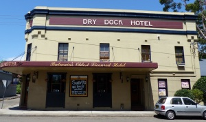 The Dry Dock Hotel Balmain. The oldest pub in the suburb. Built 1857.
