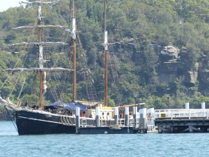 Schooner open for tours at Goat Island.