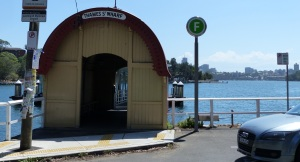 Thames Street Wharf which has stood beside Morts Dock for the last century. Workers still use the ferry system t travel to work each day from as far away as Parramatta to the west and Many to the north on the other side of the harbour.