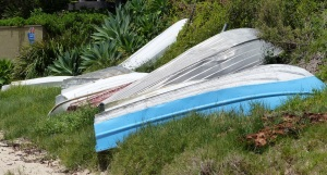 Somehow I find dinghy's pulled up on the shore attractive as a photographic subject. These can be found on Gunyah Beach at Bundeena