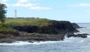 Volcanic Rock cliffs at Kiama.