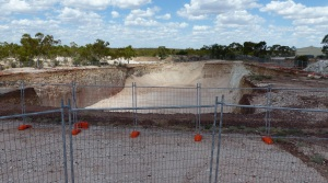Basic Earthworks for the new Australian Opal Centre.