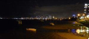 Looking to Southport/Surfers Paradise across the Broadwater waiting for the fireworks...