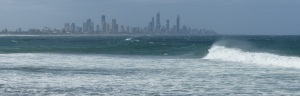 Surfers Paradise from Burleigh Heads.