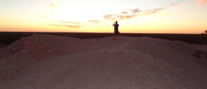 Sunset at the first shaft at Lightning Ridge.