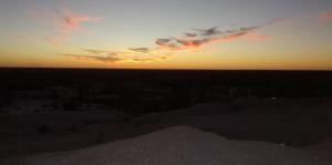 Barren sunset
