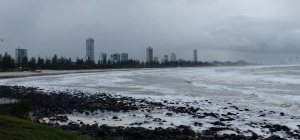 Burleigh Heads and Surfers Paradise from Burleigh headland.