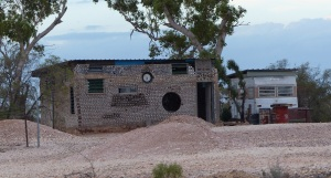 A lonely miners house near the first shaft. This house is built from mud and aluminium cans.