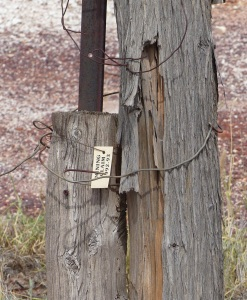 A mining lease marker.
