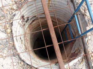 One of thousands of open shaft. This one is unusual in that it has a far better safety grille in place. Most shaft do not.