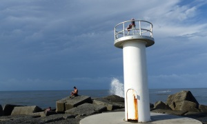 Light Station  on the breakwall at The Gold Coast seaway The Spit