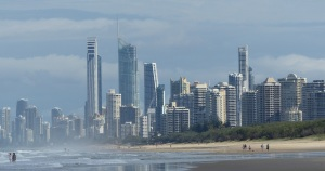 Surfers paradise from the Sand Pumping Jetty.