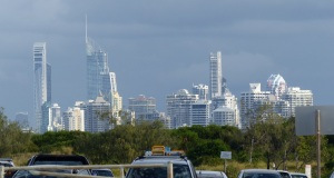 Yet another view of Surfers paradise from the carpark at The Spit.