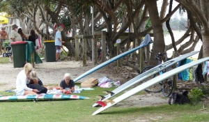 Longboards at Kingscliff Beach