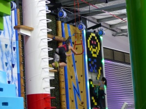 Anakins second leap of faith...he missed the trapeze.
