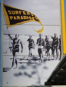 Surf carnivals, then as now were popular. The march past of the competing clubs showed off the tanned athletic healthy bodies. Hmmm! I wonder how those bodies look today?
