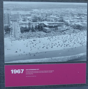 My first visit to Surfers Paradise was in 1964 and the strip looked much like this. If you double click you will see the Paula Stafford shop.