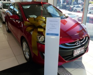 New i30 waiting to leave the showroom.