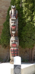 This is the Raven, Sun, Eagle Human Spirit Face Totem.