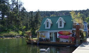 Another delightful floating house at Maple Bay.