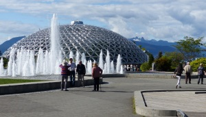Queen Elizabeth Park with glasshouse filled with tropical plants on Vancouver.