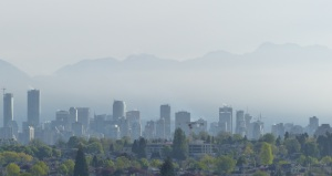Early morning mist settles over Vancouver.